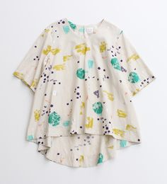 ○ C / R jet cell print blouse
