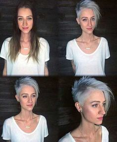 20 Short Haircut Ideas For Both Thick And Fine Hair in 2018 , Which type of hair you have does not matter here are the examples from punk hairstyles to short hairstyles for both thick and fine hair. Blonde Hair With Highlights, Ash Blonde Hair, Platinum Blonde Hair, Wavy Hair, Thin Hair, Haircut Styles For Women, Short Haircut Styles, Long Hair Styles, Short Hairstyles Fine