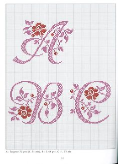 Thrilling Designing Your Own Cross Stitch Embroidery Patterns Ideas. Exhilarating Designing Your Own Cross Stitch Embroidery Patterns Ideas. Monogram Cross Stitch, Cross Stitch Alphabet Patterns, Embroidery Alphabet, Embroidery Patterns Free, Cross Stitch Charts, Stitch Patterns, Loom Patterns, Cross Stitching, Cross Stitch Embroidery