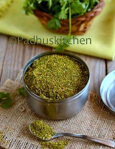Coriander Leaves Podi-Kothamalli Podi Recipe-Podi Recipes   Padhuskitchen