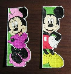 Mickey and Minnie mouse bookmarks