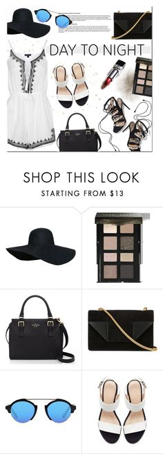 """""""Day to Night: Rompers"""" by that-chic-girl ❤ liked on Polyvore featuring Paul Andrew, Bobbi Brown Cosmetics, Kate Spade, Yves Saint Laurent, Illesteva, Zara, Topshop, DayToNight, romper and polyvorecontest"""