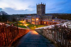 Steps down to St David's Cathedral, St David's, Pembrokeshire, W