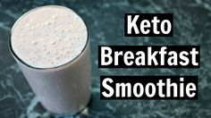 Keto Breakfast Smoothie Recipe - Low Carb Dairy Free Breakfast Smoothies Drinks Recipes and video tutorial. Yummy Inspirations