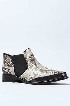 The Cameron Boot in Black Marble Python by Pour La Victoire