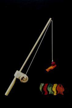 Wooden Toy Fishing Pole by myhandmadetoy on Etsy, $16.95