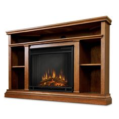 Bell O Classic Flame Cottonwood Fireplace Tv Stand In Espresso