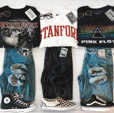 Some outfit inspo. 2 or I love the one omg Some outfit inspo. Grunge Outfits, Tomboy Outfits, Teen Fashion Outfits, Cute Casual Outfits, Teenager Outfits, Mode Outfits, Retro Outfits, Outfits For Teens, Vintage Outfits