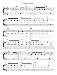 Ein kleines einfaches Sommerlied...