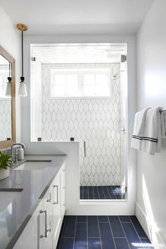 10 Beyond Stylish Bathrooms With Patterned Encaustic Tile - Light-grey-bathroom-floor-tiles