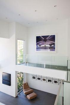 Mezzanine hallway; glass floors