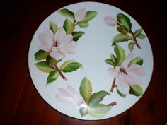 large magnolia cake plate by Angela Davies