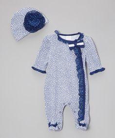 Look what I found on #zulily! Navy Star Footie & Beanie - Infant by Baby Essentials #zulilyfinds