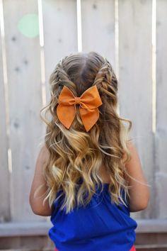 Braided hairstyle for little girls - Cabello trenzado para niñas