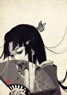 Illustration art light Black and White Cool anime japan japanese creepy horror b. Sketch Manga, Art Manga, Art And Illustration, Japanese Illustration, Creepy Horror, Horror Art, Manga Smile, Anime Negra, Art Steampunk
