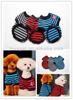 Pet 100% clásico de algodón a rayas ropa ropa de perro - spanish.alibaba.com