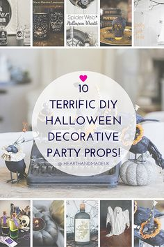 10 Terffic DIY Halloween Decorative Party Props
