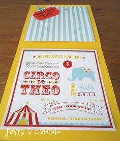 Vintage Circus - convite-ingresso
