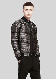 Versace - Jacquard Greca bomber jacket