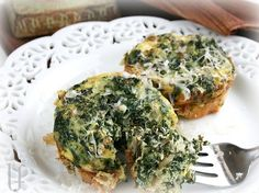 Spinach quiche, oh yes, these would be great in mini-muffin cups and served as appetizers