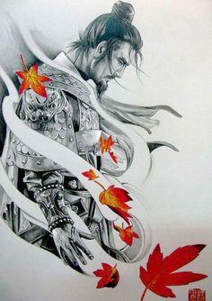 Samurai Tattoo Design - Sie Trendy - Tattoos -You can find Samurai and more on our website. Filipino Tattoos, Asian Tattoos, Trendy Tattoos, Japan Tattoo, Japanese Tattoo Art, Japanese Art, Japanese Warrior Tattoo, Japanese Prints, Samurai Warrior Tattoo