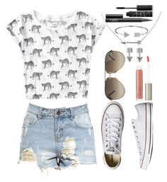 """SUMMER "" by johanna4475 ❤ liked on Polyvore featuring Aéropostale, Converse, Ilia, SO, Gucci, Bling Jewelry and NARS Cosmetics"