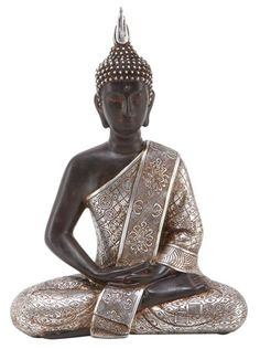 Seated Thai Buddha in Antique Finish http://wld.mn/13GZ9tN  This is an exceptionally finely cast Buddha image, which looks like solid bronze, but which is actually cast in polyresin.