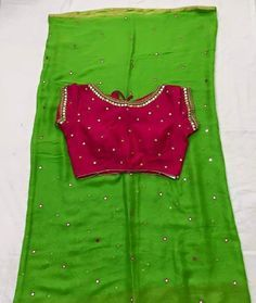 Exclusive Mirror Work Sarees With Beautiful Mirror Work Blouses   buy Online…