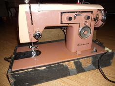 VINTAGE RETRO SEARS KENMORE HEAVY DUTY SEWING MACHINE PORTABLE 1960's PINK ROSE