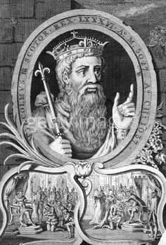 """Malcolm Canmore / Malcolm III of Scotland  Malcolm was King of Scots from 1058 to 1093. He was later nicknamed Canmore in Scottish Gaelic, """"Great Chief"""". Malcolm's long reign, lasting 35 years, preceded the beginning of the Scoto-Norman age. He is the historical equivalent of the character of the same name in Shakespeare's Macbeth."""