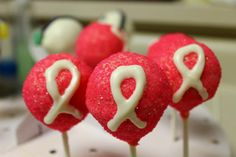 Breast Cancer Cake Pops