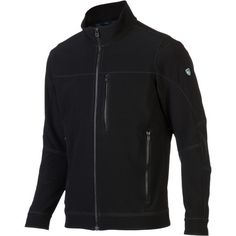 From side streets to the trails, take the force out cold winds with the Kuhl Men's Impakt Jacket. In addition to being sleek and soft, the polyester Softschell fabric offers windproof and water resistant protection against the elements. Plus, the grid fleece backer beneath the arms improves ventilation for when you work up a sweat.
