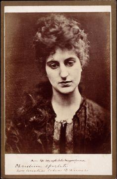 "Julia Margaret Cameron photograph of Christina Spartali, ca. 1865-1870. Christina was the model for Whistler's ""La Princesse du pays de la porcelaine""."