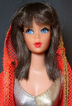 The beautiful Dramatic New Living Barbie Doll from 1970.  She was fully poseable.