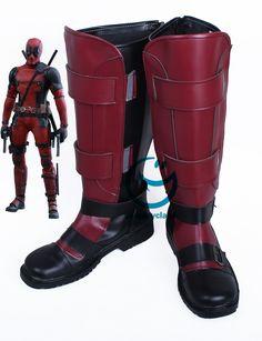 Marvel Deadpool Wade Winston Wilson Cosplay Boots – CosplayClass Deadpool Comic Book, Deadpool Mask, Lady Deadpool, Female Deadpool, Deadpool Stuff, Deadpool Movie Costume, Deadpool Cosplay, Cosplay Boots, Costumes