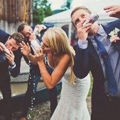 what's a wedding without shotgunning beers?
