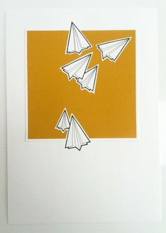 original paper airplanes drawing  scatter  hand by lightboxing, £24.00