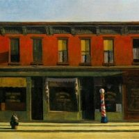 Early Sunday Morning, 1930, Edward Hopper