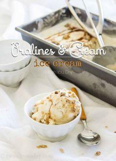 Pralines and Cream Ice Cream Recipe (no eggs & super easy!) @iwashyoudry