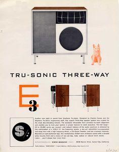 Tru-Sonic three-way by Charles Eames