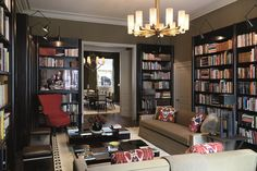Interior of Ara's townhouse (library) - minus the  modern touches. ;-)