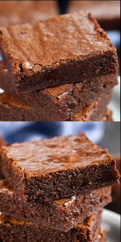 This is the BEST BROWNIES RECIPE ever! You'll never buy a box mix again after .This is the BEST BROWNIES RECIPE ever! You'll never buy a box mix again after making this easy one bowl brownie recipe. They're fudgy and rich and the perfect brownie r Perfect Brownie Recipe, Boxed Brownie Recipes, Basic Cookie Recipe, Brownie Recipe Video, Fudgy Brownie Recipe, Best Chocolate Chip Cookies Recipe, Easy Cookie Recipes, Baking Recipes, Dessert Recipes