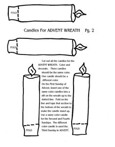 Color Page Of Advent Candle