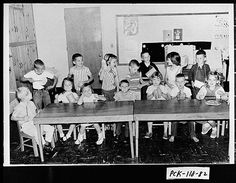 Jasper, ca. 1962. Group of students attending kindergarten class at the First Baptist Church. This is said to have been the first such kindergarten operated in the county. Digital Library of Georgia. Georgia Archives.