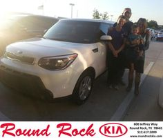 Congratulations to Russell Bauer on your #Kia #Soul purchase from Rudy Armendariz at Round Rock Kia! #NewCar