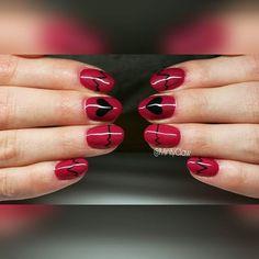 #paznokcie #nails #manicure #gelnails #mintyclaw #nailac @nailacuv #instanails #lineoflife #hearthnails #valentines #valentinesnails #liniazycia