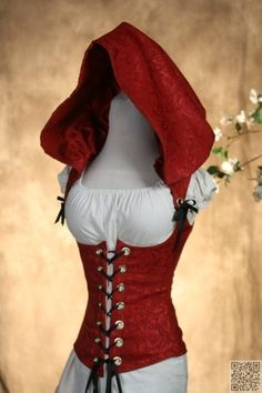 23. Red #Riding Hood Corset - Just for Fun: 33 #Corsets You Have to See to Believe ... → #Fashion #Victorian