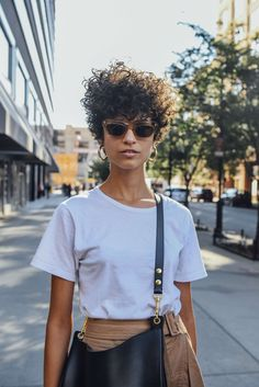 September 12, 2016 Tags Black, Brown, Sunglasses, White, Women, Model Off Duty, Models, Earrings, Bags, T Shirts, New York, Céline, 1 Person, Ari Westphal, Short Hair, SS17 Women's