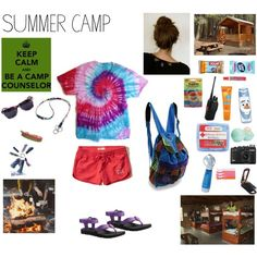 Let The Counselor Handle It by beebootoo on Polyvore featuring Teva, Ribband, Vera Bradley, Eos, Hollister Co., Zak! Designs, Sunpentown, Kiss My Face, Summer and summer camp