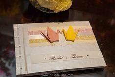livro de mensagens para os noivos - Sakura Origami Ateliê #casamento #miniwedding #livrodemensagens #comorigami